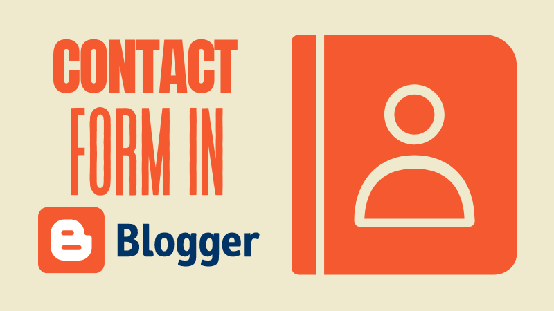 contact form in blogger