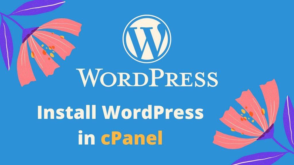 install wordpress in cpanel