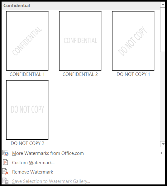 How to Insert Watermark in Word