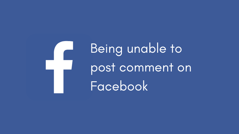 unable to comment on facebook