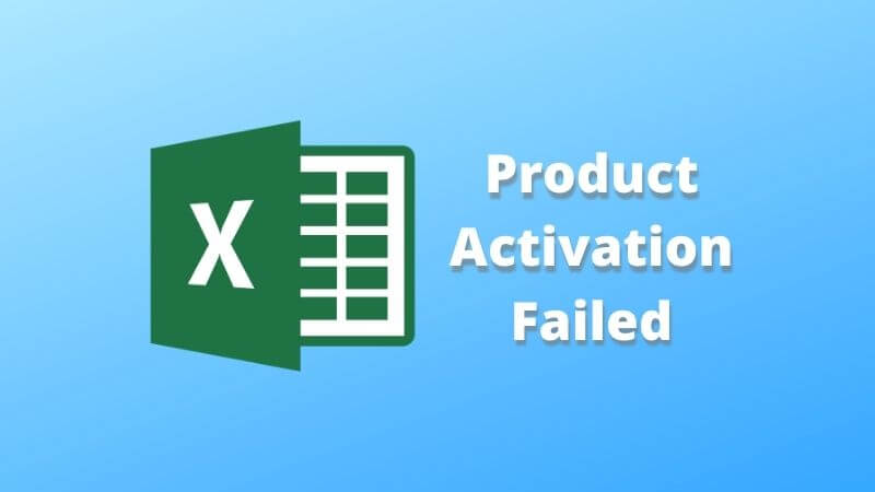 product activation failed in excel