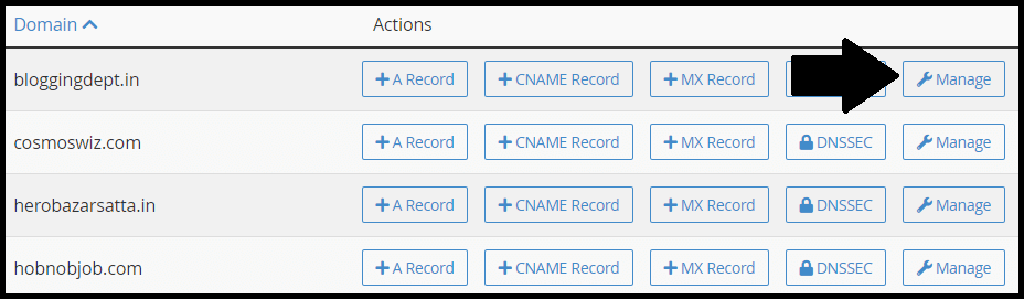 verify domain ownership via dns record cpanel