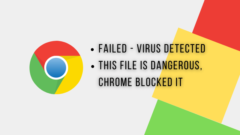 failed virus detected