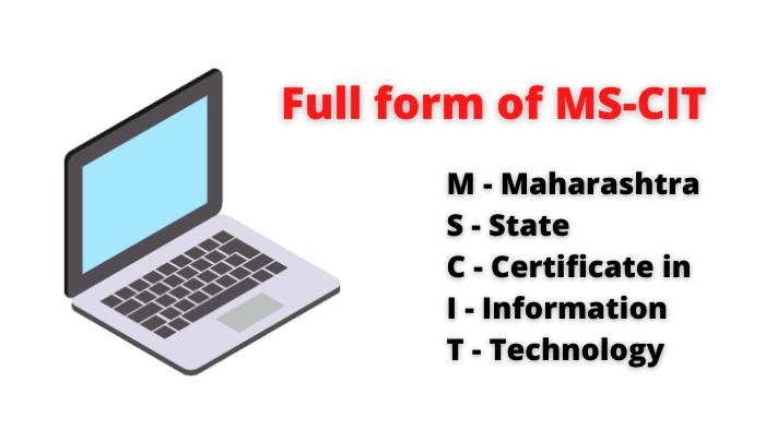 full form of mscit