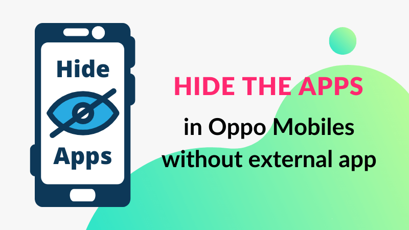 how to hide apps in oppo mobile