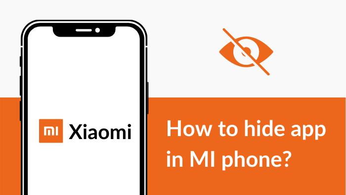how to hide app in mi