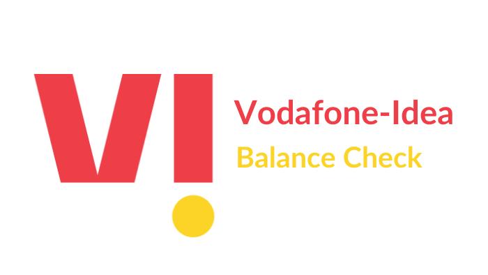 vodafone-idea balance check