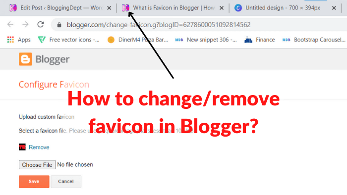 what is favicon in blogger & how to add