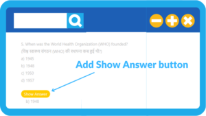 how to add show answer button