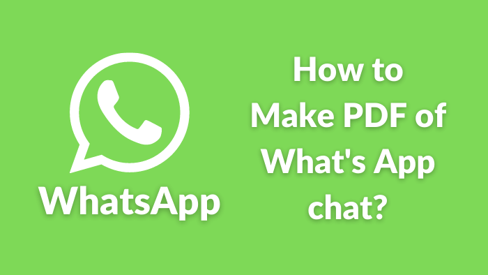 how to make pdf in whatsapp