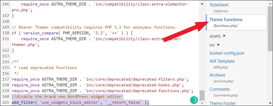 remove block widgets restore classic widgets