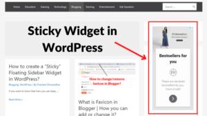 wordpress sticky sidebar